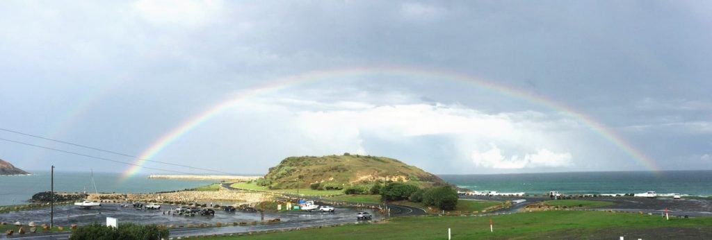 Rainbow over Corambirra point